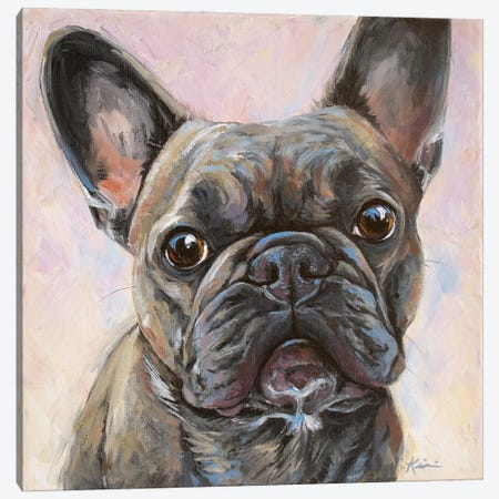 French Bulldog Canvas Print #LKV64} by Lindsay Kivi Canvas Wall Art