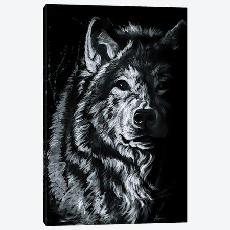 Shadow Wolf Canvas Print #LKV67} by Lindsay Kivi Canvas Wall Art