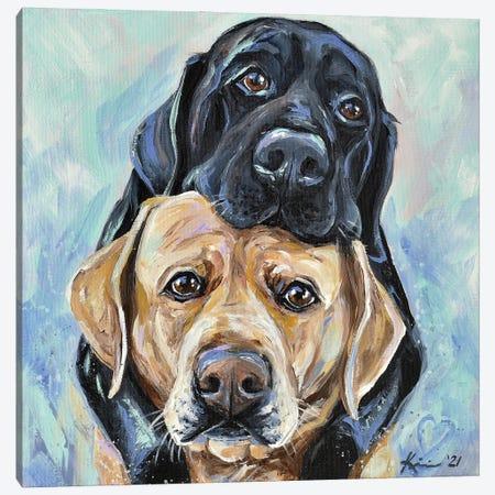 Puppy Love Canvas Print #LKV9} by Lindsay Kivi Canvas Art Print