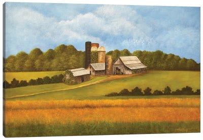 Across The Field Canvas Art Print