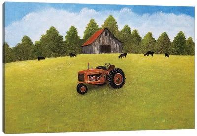 Springtime On The Farm Canvas Art Print