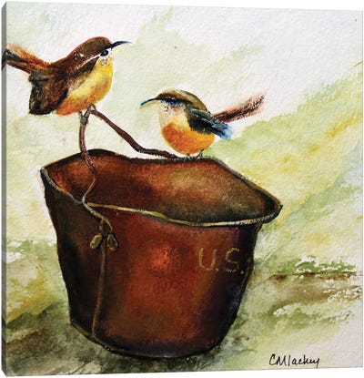 Wrens Canvas Art Print