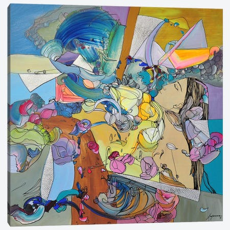 Sunset Canvas Print #LLE107} by Larisa Ilieva Art Print
