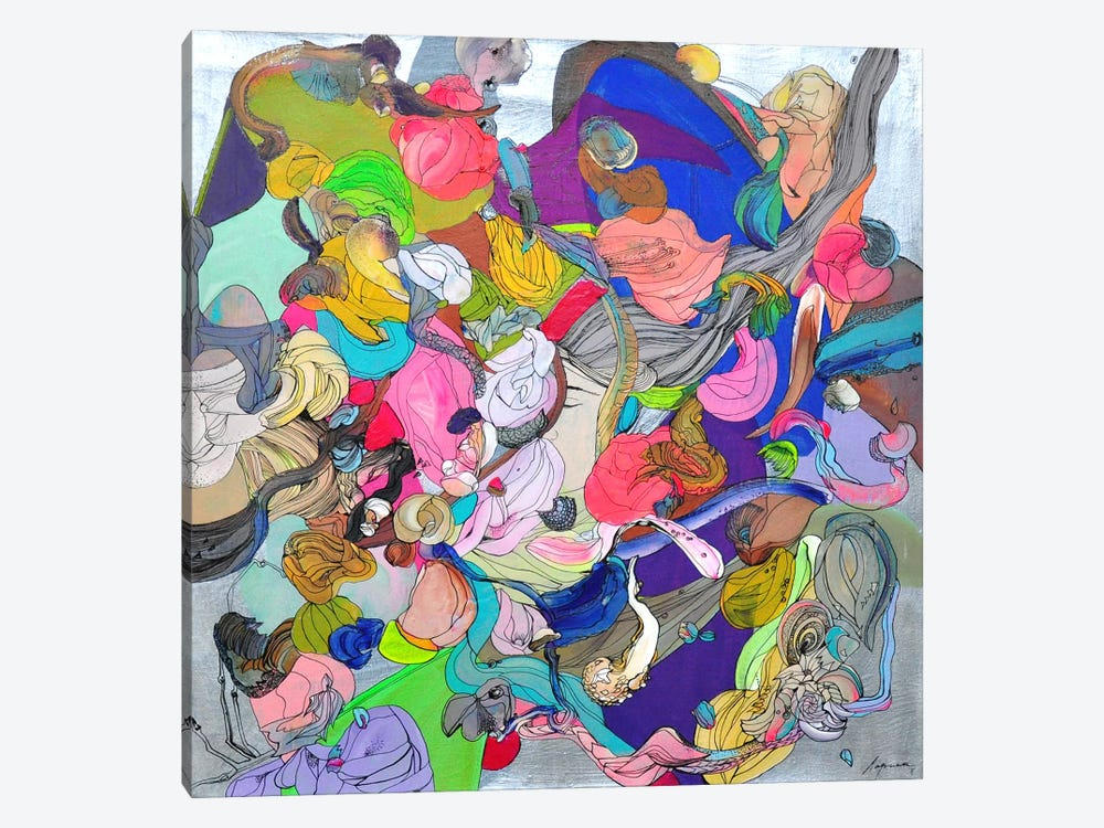 Silver Blues by Larisa Ilieva 1-piece Canvas Art