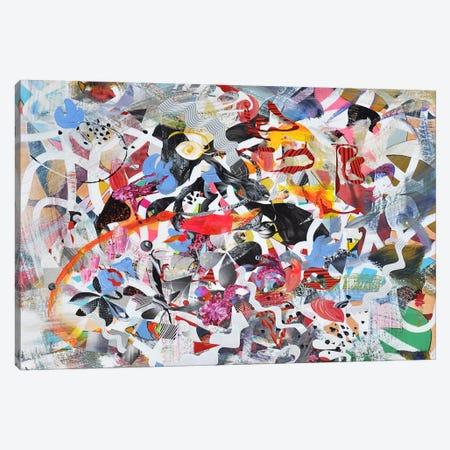 Susan Lost Her Hat Canvas Print #LLE110} by Larisa Ilieva Art Print