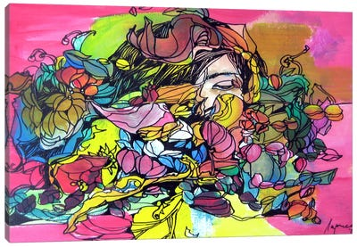 Pink-Yellow Canvas Art Print