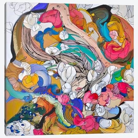White Dream Canvas Print #LLE16} by Larisa Ilieva Art Print
