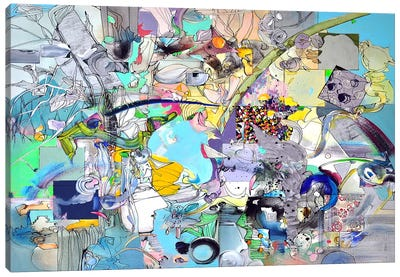 Blue Desire Canvas Art Print