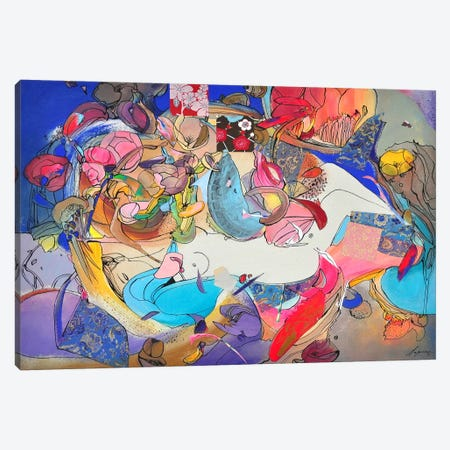 Blue Morning Canvas Print #LLE37} by Larisa Ilieva Art Print