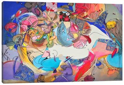 Blue Morning Canvas Art Print
