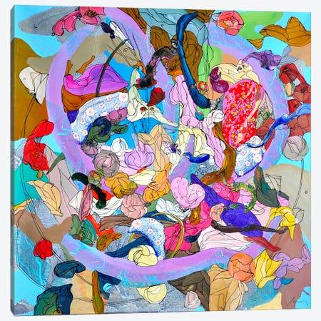 Purple Rain Canvas Print #LLE42} by Larisa Ilieva Canvas Art Print