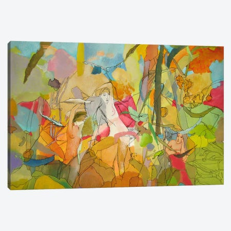 Forest Girl Canvas Print #LLE57} by Larisa Ilieva Art Print