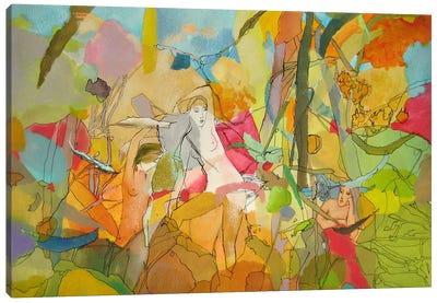 Forest Girl Canvas Art Print