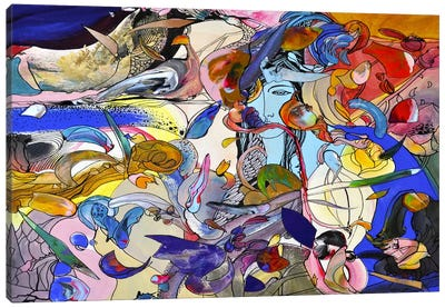 Blue Girl Canvas Art Print