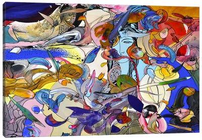 Blue Girl Canvas Print #LLE9