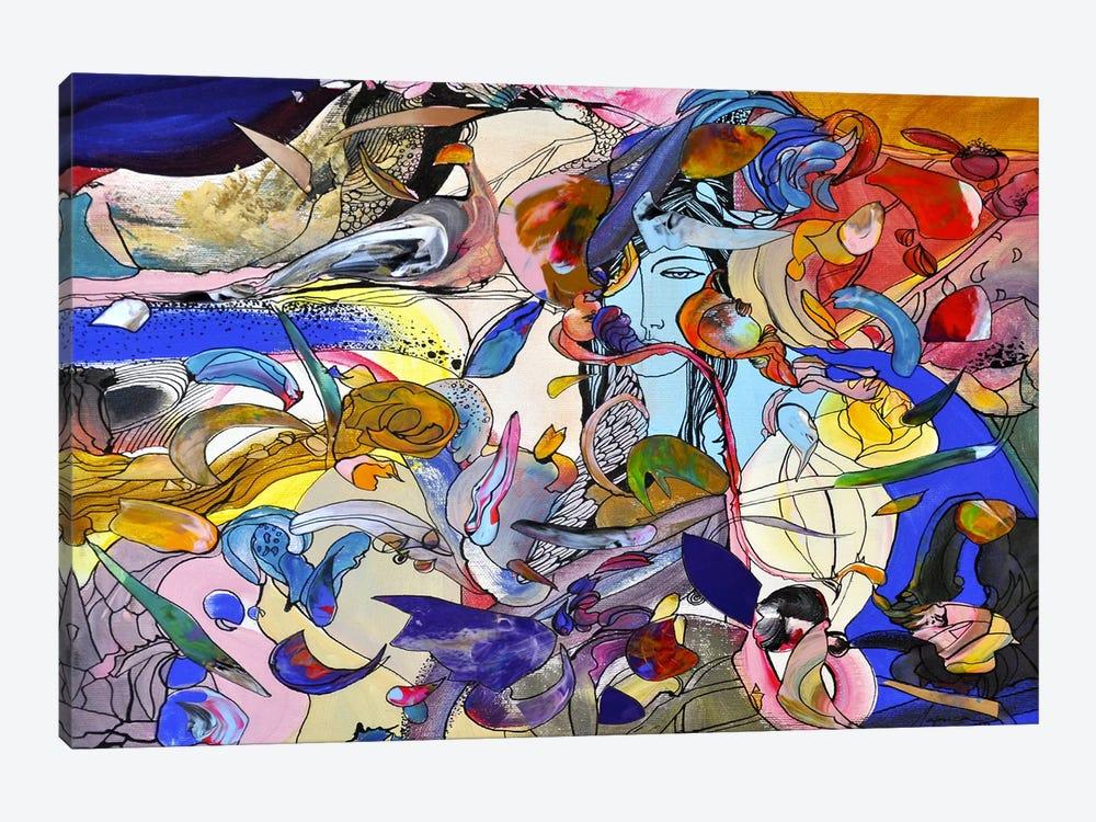 Blue Girl by Larisa Ilieva 1-piece Canvas Wall Art