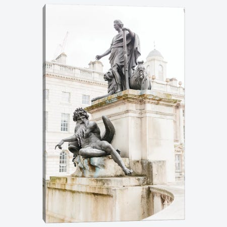 Statues, London, England Canvas Print #LLH109} by lovelylittlehomeco Canvas Print