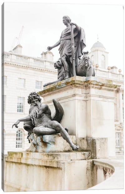 Statues, London, England Canvas Art Print
