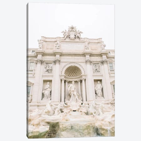 Trevi Fountain Close-Up, Rome, Italy Canvas Print #LLH112} by lovelylittlehomeco Canvas Wall Art