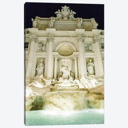 Trevi Fountain Night, Rome, Italy Canvas Print #LLH115} by lovelylittlehomeco Canvas Art Print