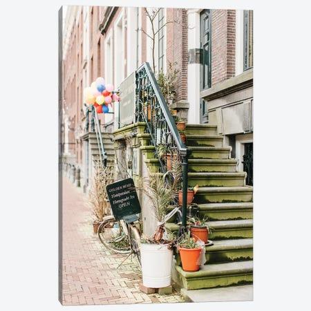 Bike, Golden Bend Neighborhood, Amsterdam Canvas Print #LLH11} by lovelylittlehomeco Art Print