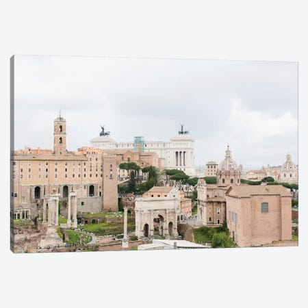 View From Roman Forum, Rome, Italy Canvas Print #LLH121} by lovelylittlehomeco Canvas Art Print