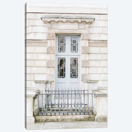 Blue Door II, London, England Canvas Print #LLH14} by lovelylittlehomeco Canvas Artwork