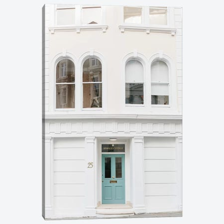 Blue Door I, London, England Canvas Print #LLH15} by lovelylittlehomeco Canvas Artwork