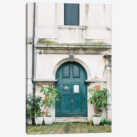 Blue Door, Venice, Italy Canvas Print #LLH16} by lovelylittlehomeco Canvas Artwork