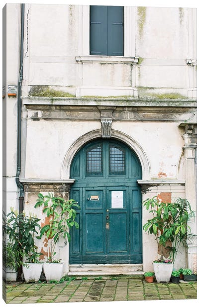 Blue Door, Venice, Italy Canvas Art Print