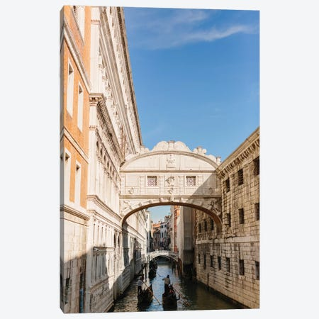 Bridge Of Sighs, Venice, Italy Canvas Print #LLH22} by lovelylittlehomeco Canvas Wall Art