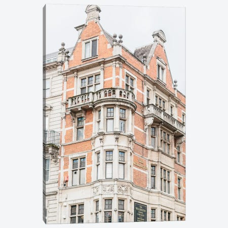 Building Corner, London, England Canvas Print #LLH25} by lovelylittlehomeco Canvas Art Print
