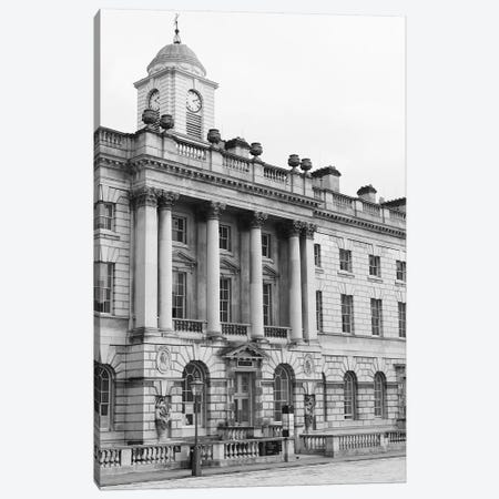 Building, London, England In Black & White Canvas Print #LLH27} by lovelylittlehomeco Canvas Print