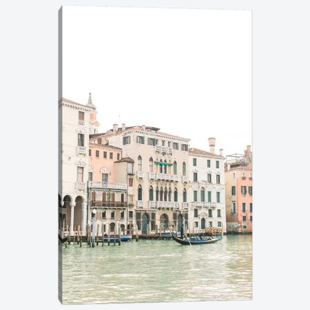 Buildings Along Canal I, Venice, Italy Canvas Print #LLH29} by lovelylittlehomeco Canvas Artwork