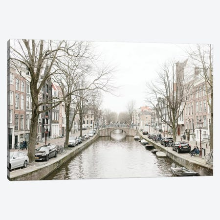 Amsterdam Canal Canvas Print #LLH2} by lovelylittlehomeco Canvas Art Print