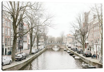 Amsterdam Canal Canvas Art Print
