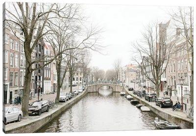 Amsterdam Canal Canvas Art Print