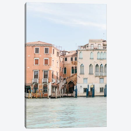 Buildings Along Canal II, Venice, Italy Canvas Print #LLH30} by lovelylittlehomeco Canvas Art Print