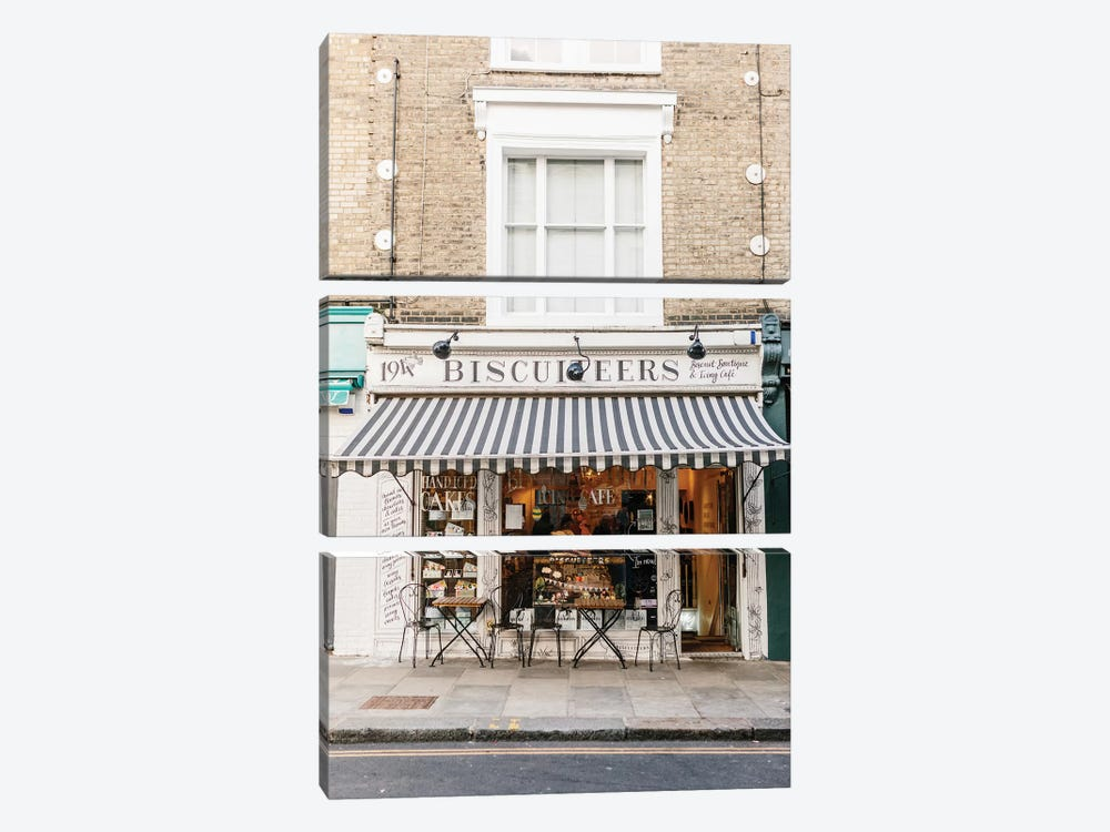 Café, London, England by lovelylittlehomeco 3-piece Canvas Wall Art