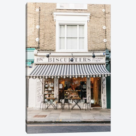 Café, London, England Canvas Print #LLH31} by lovelylittlehomeco Canvas Art Print