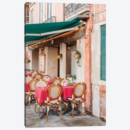 Café, Venice, Italy Canvas Print #LLH32} by lovelylittlehomeco Canvas Art Print