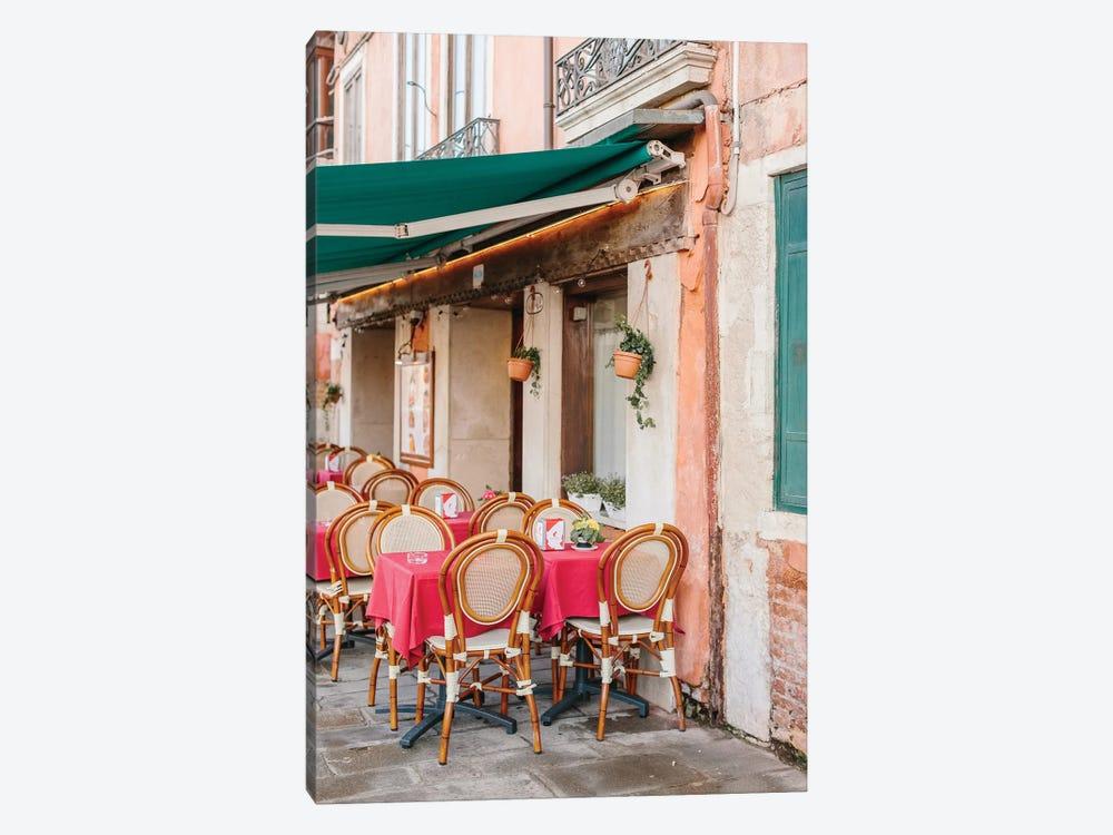 Café, Venice, Italy by lovelylittlehomeco 1-piece Canvas Print