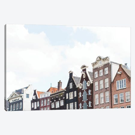 Canal Homes I, Amsterdam Canvas Print #LLH33} by lovelylittlehomeco Art Print