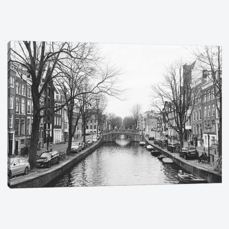 Amsterdam Canal, B&W Canvas Print #LLH3} by lovelylittlehomeco Canvas Print