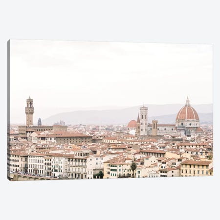 Cityscape III, Florence, Italy Canvas Print #LLH40} by lovelylittlehomeco Canvas Wall Art