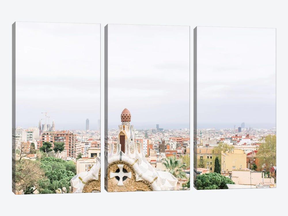 Cityscape, Barcelona, Spain by lovelylittlehomeco 3-piece Canvas Art Print