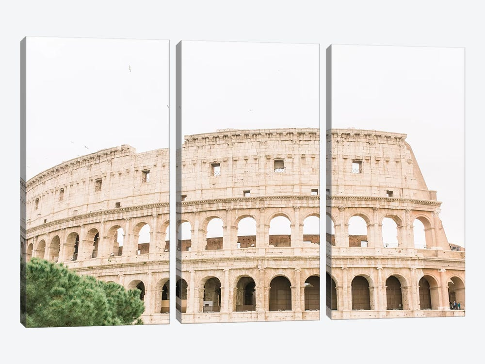 Colosseum III, Rome, Italy by lovelylittlehomeco 3-piece Canvas Artwork