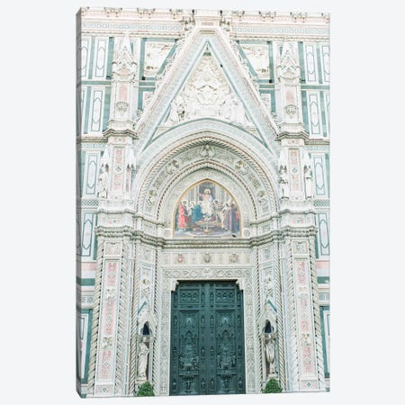 Duomo Cathedral Details, Florence, Italy Canvas Print #LLH56} by lovelylittlehomeco Canvas Artwork
