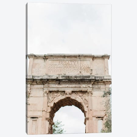 Arch, Rome, Italy Canvas Print #LLH5} by lovelylittlehomeco Canvas Wall Art