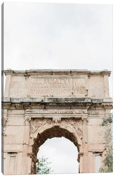 Arch, Rome, Italy Canvas Art Print